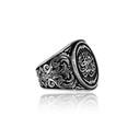 Arapça Nasihatlı Gümüş Erkek Yüzük VEY-1147 - Thumbnail