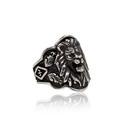 Aslan Motifli Ayarlanabilir 925 Ayar Gümüş Erkek Yüzük VEY-1135 - Thumbnail