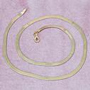 Balık Sırtı Altın Kaplama Kadın Gümüş Kolye VKK-4817 - Thumbnail