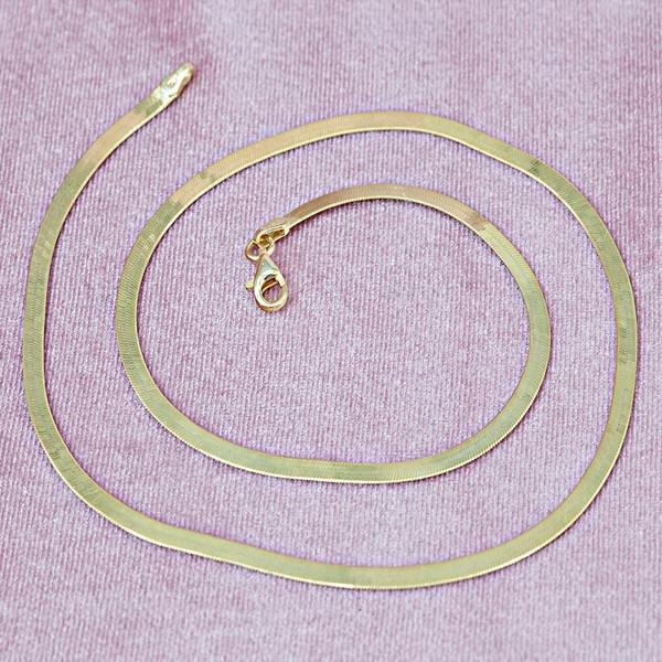 Balık Sırtı Altın Kaplama Kadın Gümüş Kolye VKK-4817