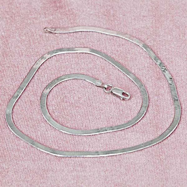 Balık Sırtı Rodyum Kaplama Kadın Gümüş Kolye VKK-4818
