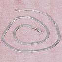 Balık Sırtı Rodyum Kaplama Kadın Gümüş Kolye VKK-4818 - Thumbnail