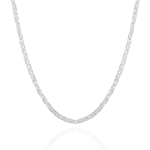 Barlı Zincir 925 Ayar Gümüş Erkek Kolye VEK-3086