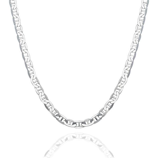 Barlı Zincir 925 Ayar Gümüş Erkek Kolye VEK-3087