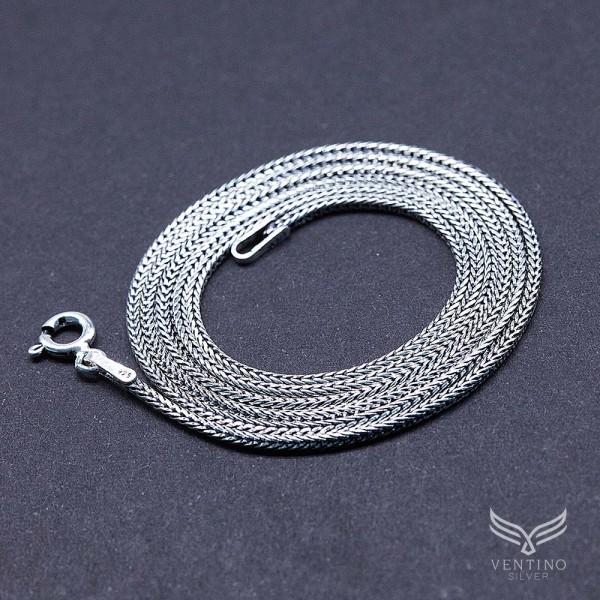 Zincir 925 Ayar Gümüş Erkek Kolye VEK-3009