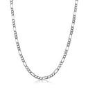 Figaro Zincir 925 Ayar Gümüş Erkek Kolye VEK-3024 - Thumbnail