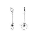 Kadın Gümüş Küpe VKP-7021 - Thumbnail