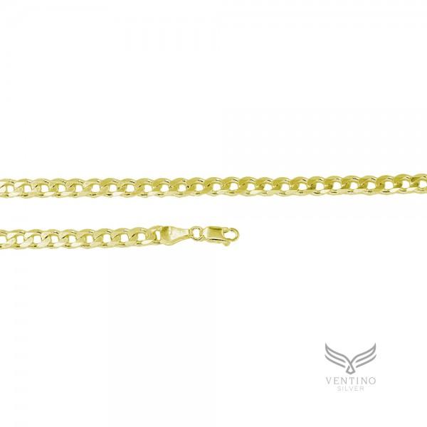 Gurmet 925 Ayar Gümüş Altın Kaplama Zincir Kolye VEK-3110