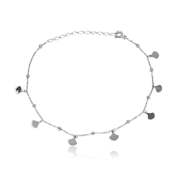 Motifli Kadın Gümüş Halhal VKH-9504