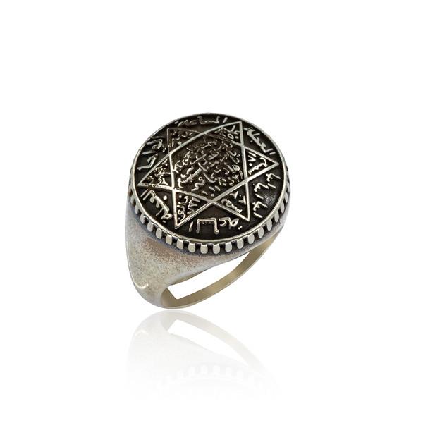 Mührü Süleyman 925 Ayar Gümüş Erkek Yüzük VEY-1139