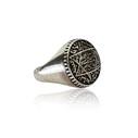 Mührü Süleyman 925 Ayar Gümüş Erkek Yüzük VEY-1139 - Thumbnail