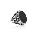 Oniks Taşlı Gümüş Erkek Yüzük VEY-1009 - Thumbnail