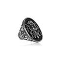 Osmanlı Armalı Gümüş Erkek Yüzük VEY-1101 - Thumbnail