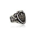 Osmanlı Armalı 925 Ayar Gümüş Erkek Yüzük VEY-1104 - Thumbnail