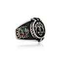 Osmanlı Tuğralı Selçuklu Kartal Motifli 925 Ayar Gümüş Erkek Yüzük VEY-1125 - Thumbnail