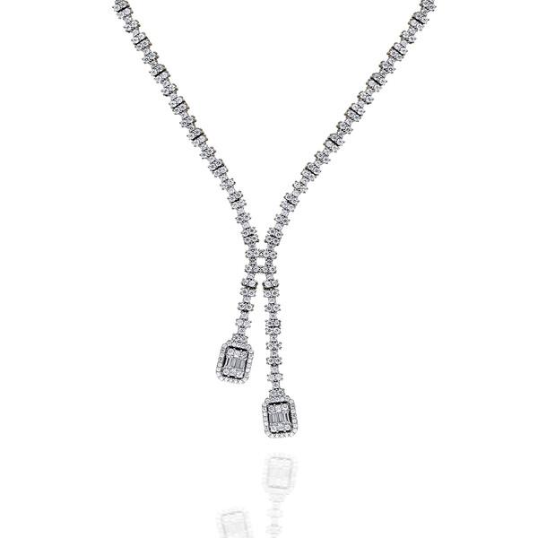 Pırlanta Montur Baget Taşlı Kadın Gümüş Set VKS-8034