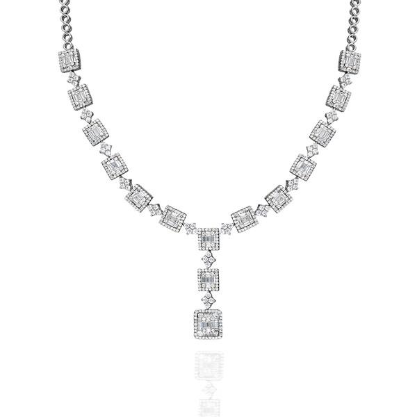 Pırlanta Montur Baget Taşlı Kadın Gümüş Set VKS-8035