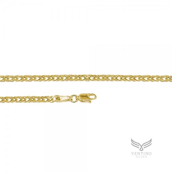 Rambo 925 Ayar Gümüş Altın Kaplama Zincir Kolye VEK-3104