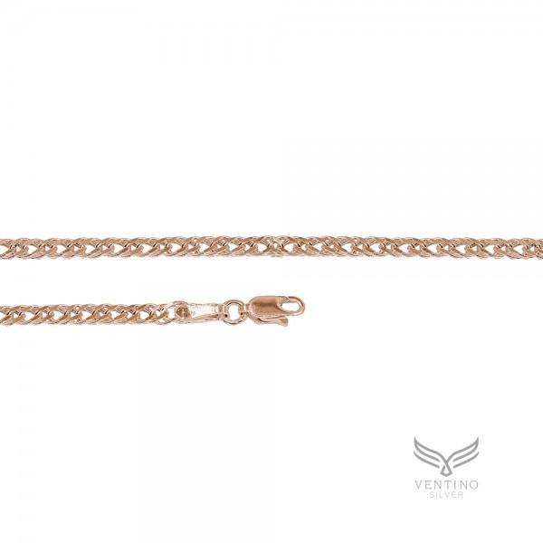 Rambo 925 Ayar Gümüş Rose Kaplama Zincir Kolye VEK-3105