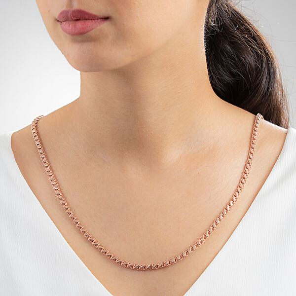 Rose Kaplama Pul Kadın Gümüş Kolye VKK-4821