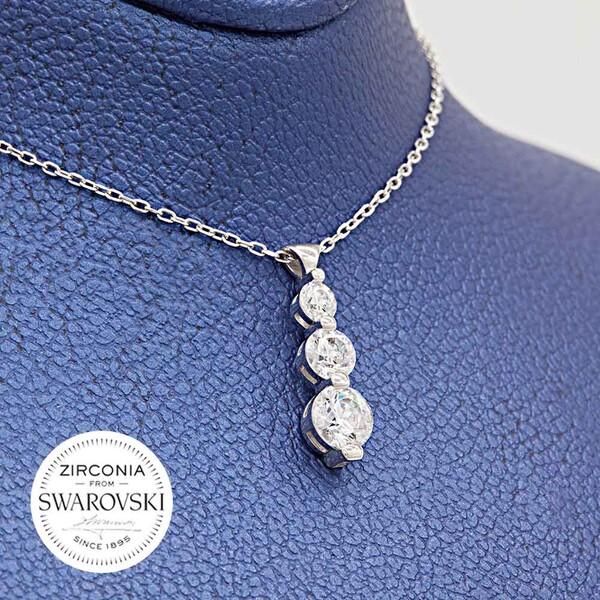 Swarovski Kadın Gümüş Kolye VSW-9036