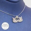 Swarovski Kadın Gümüş Kolye VSW-9040 - Thumbnail