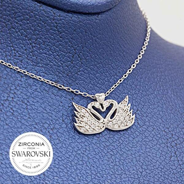 Swarovski Kadın Gümüş Kolye VSW-9040
