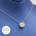 Swarovski Kadın Gümüş Kolye VSW-9051 - Thumbnail