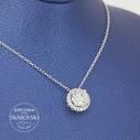 Tektaş Swarovski Kadın Gümüş Kolye VSW-9029 - Thumbnail