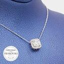 Tektaş Swarovski Kadın Gümüş Kolye VSW-9030 - Thumbnail