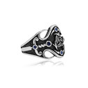 Teşkilat-ı Mahsusa Motifli Gümüş Erkek Yüzük VEY-1111 - Thumbnail