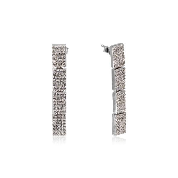 Üçlü Pırlanta Montür İthal Gümüş Set VKS-8018
